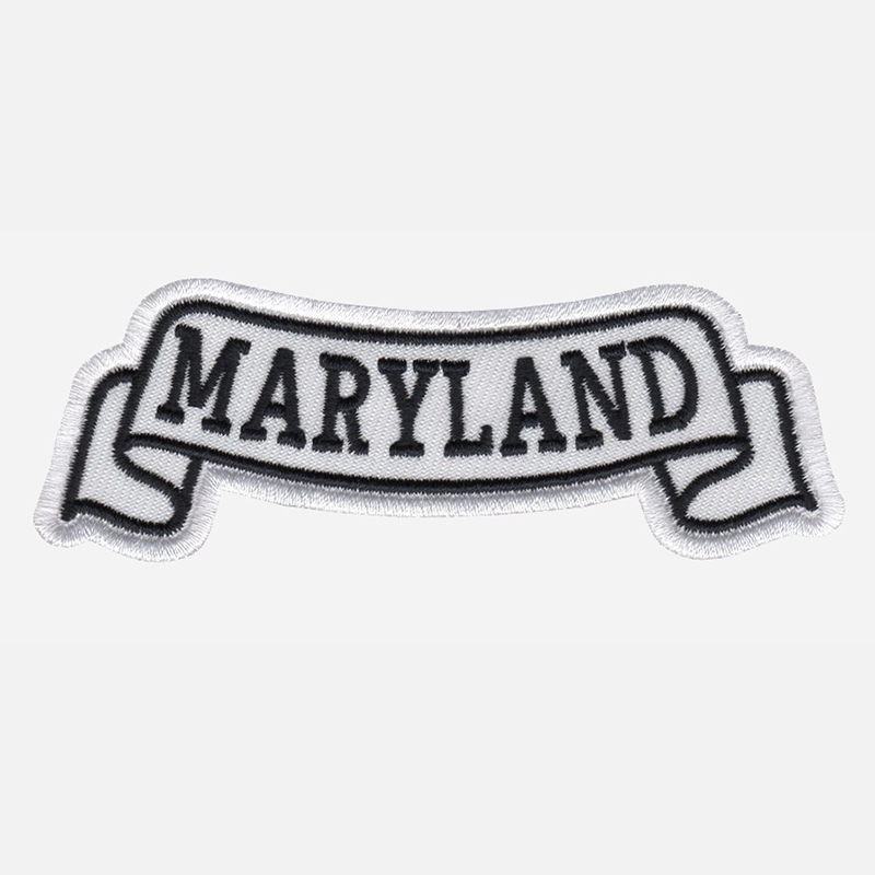 Maryland Top Banner Embroidered Biker Vest Patch