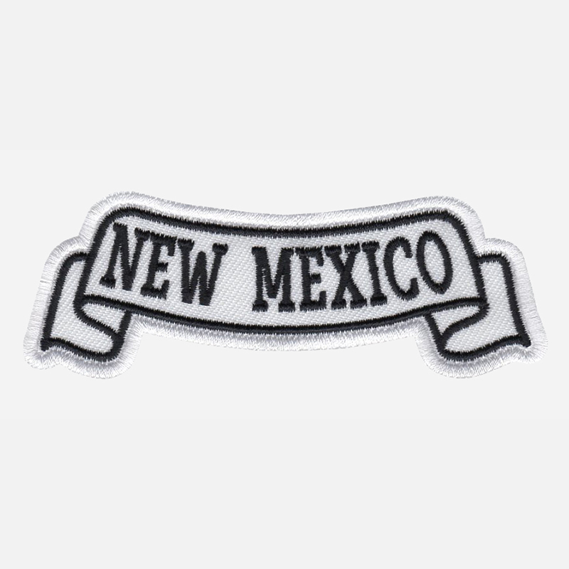 New Mexico Top Banner Embroidered Biker Vest Patch