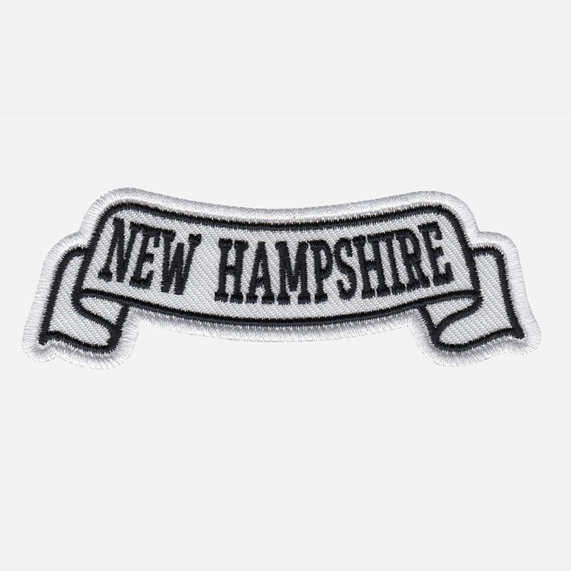 New Hampshire Top Banner Embroidered Biker Vest Patch