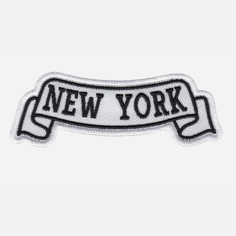 New York Top Banner Embroidered Biker Vest Patch