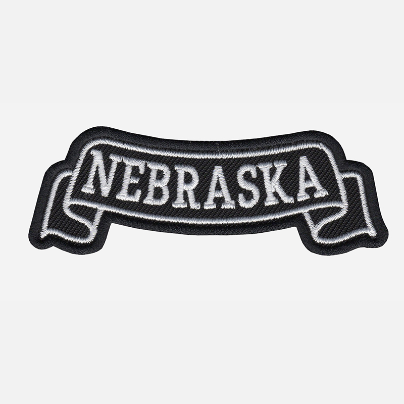 Nebraska Top Banner Embroidered Biker Vest Patch