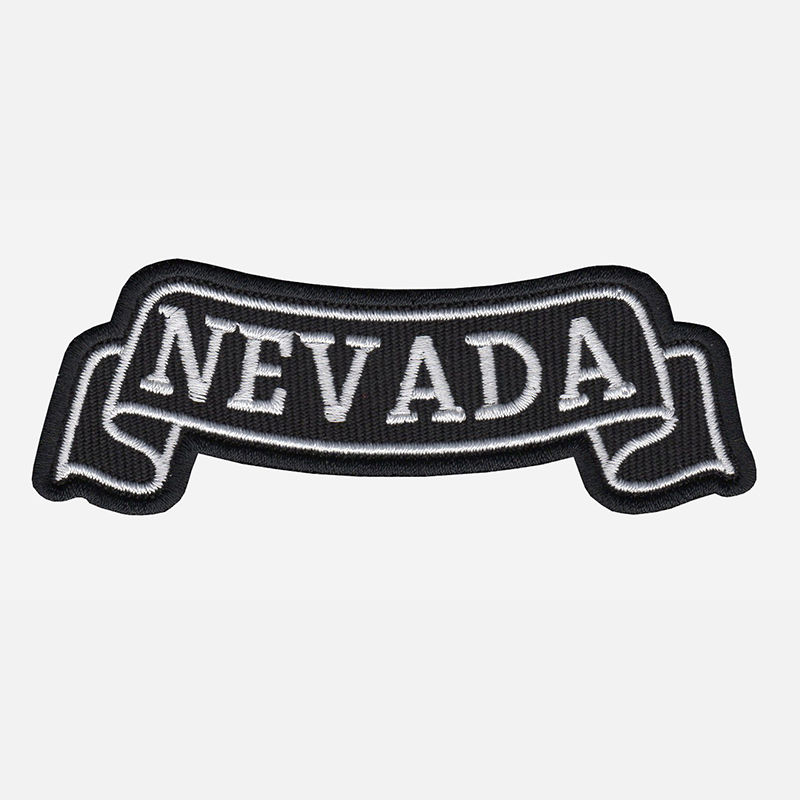 Nevada Top Banner Embroidered Biker Vest Patch