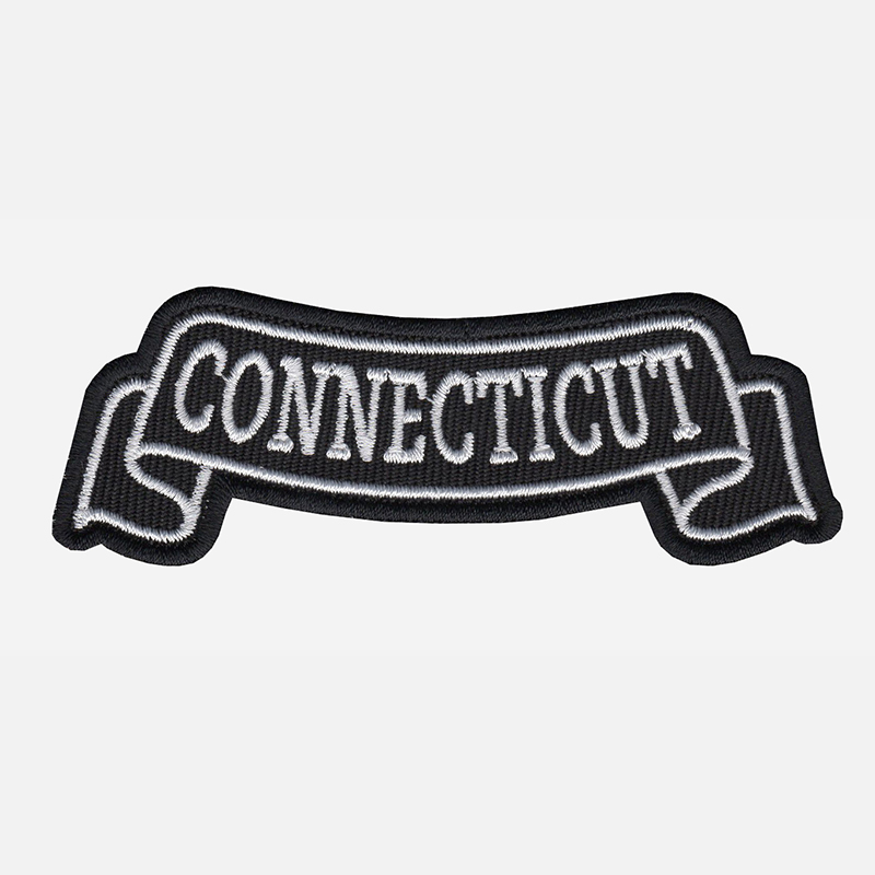 Connecticut Top Banner Embroidered Biker Vest Patch