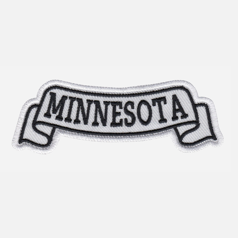 Minnesota Top Banner Embroidered Biker Vest Patch
