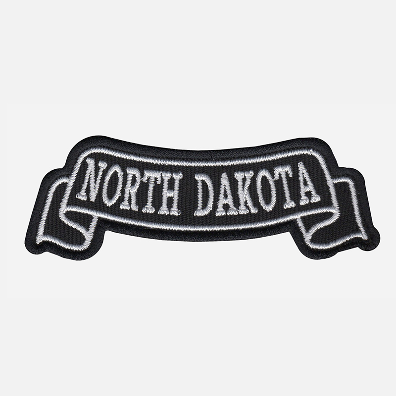 North Dakota Top Banner Embroidered Biker Vest Patch