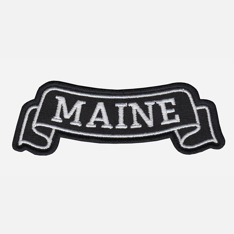 Maine Top Banner Embroidered Biker Vest Patch