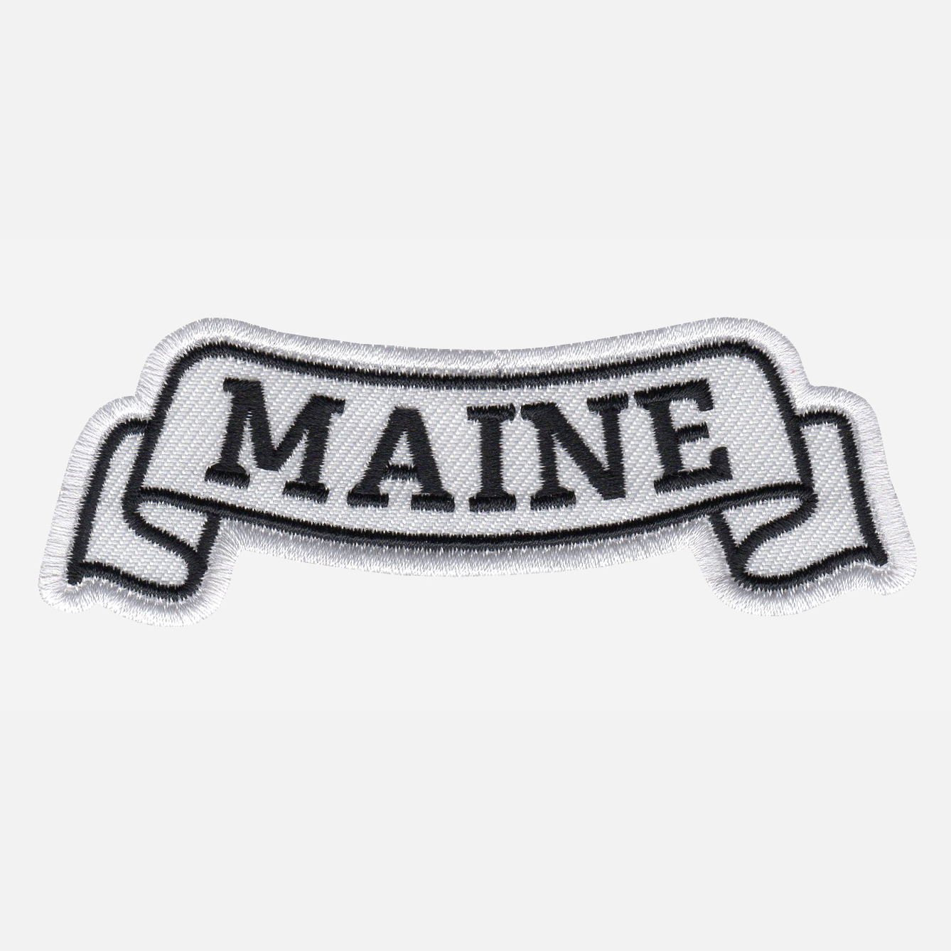 Maine Top Banner Embroidered Biker Vest Patch