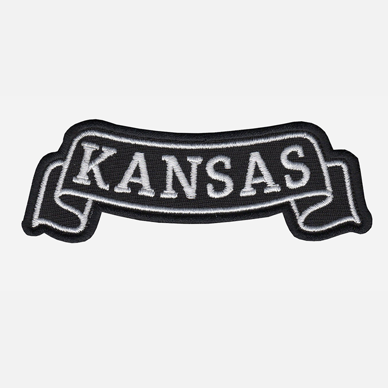 Kansas Top Banner Embroidered Biker Vest Patch