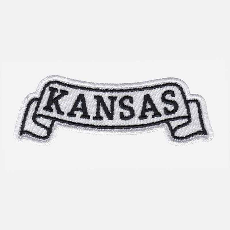 Kansas Top Banner Embroidered Biker Vest Patch