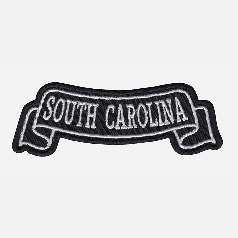 South Carolina Top Banner Embroidered Biker Vest Patch