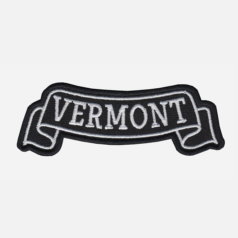 Vermont Top Banner Embroidered Biker Vest Patch
