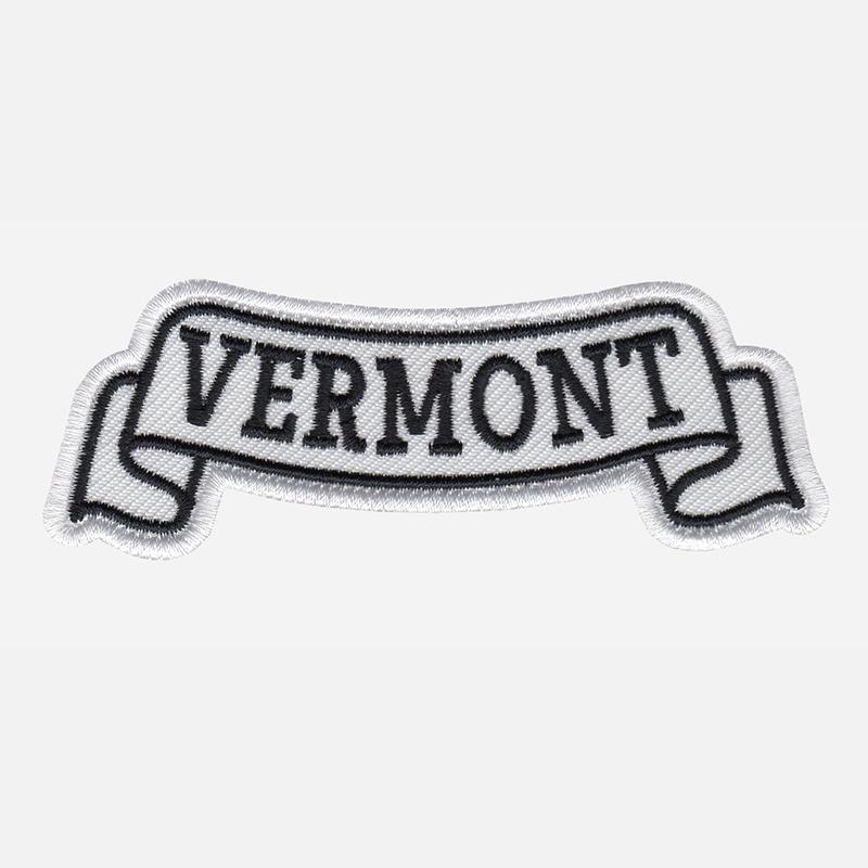 Vermont Top Banner Embroidered Biker Vest Patch