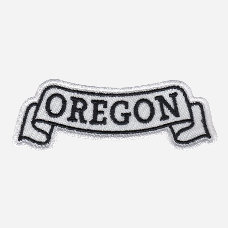 Oregon Top Banner Embroidered Biker Vest Patch