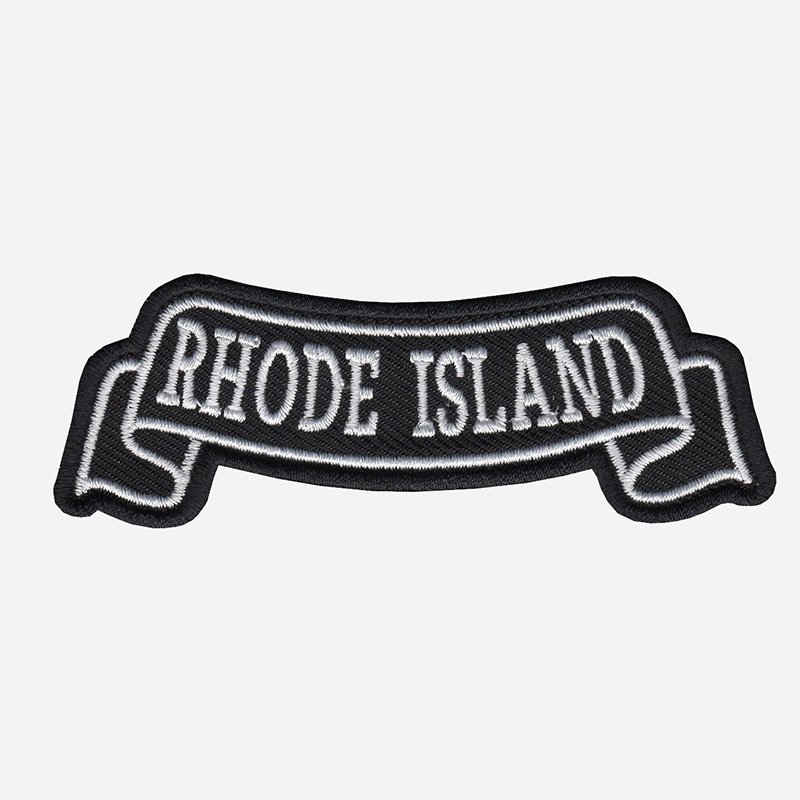 Rhode Island Top Banner Embroidered Biker Vest Patch