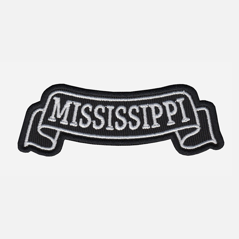 Mississippi Top Banner Embroidered Vest Patch