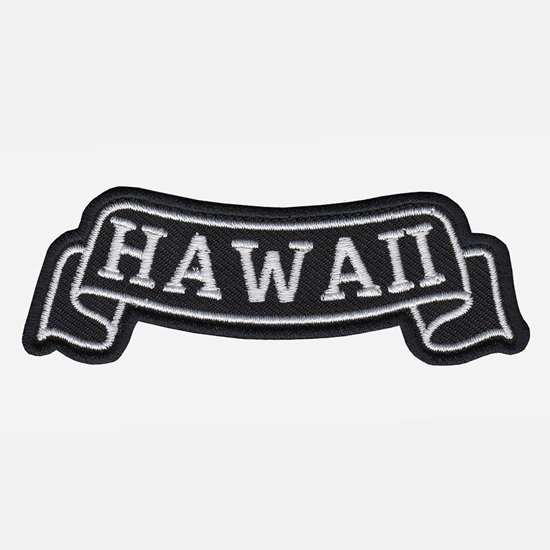 Hawaii Top Banner Embroidered Biker Vest Patch