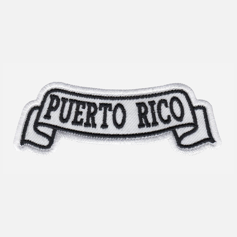 Puerto Rico Top Banner Embroidered Biker Vest Patch