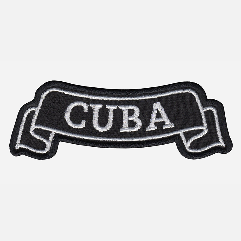 Cuba Top Banner Embroidered Biker Vest Patch