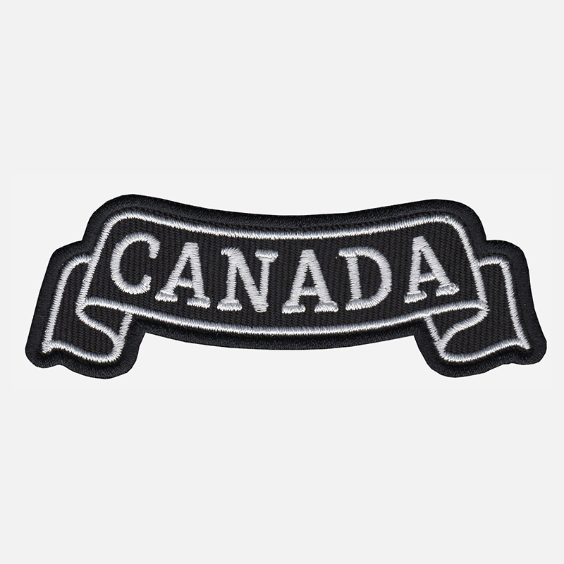 Canada Top Banner Embroidered Biker Vest Patch