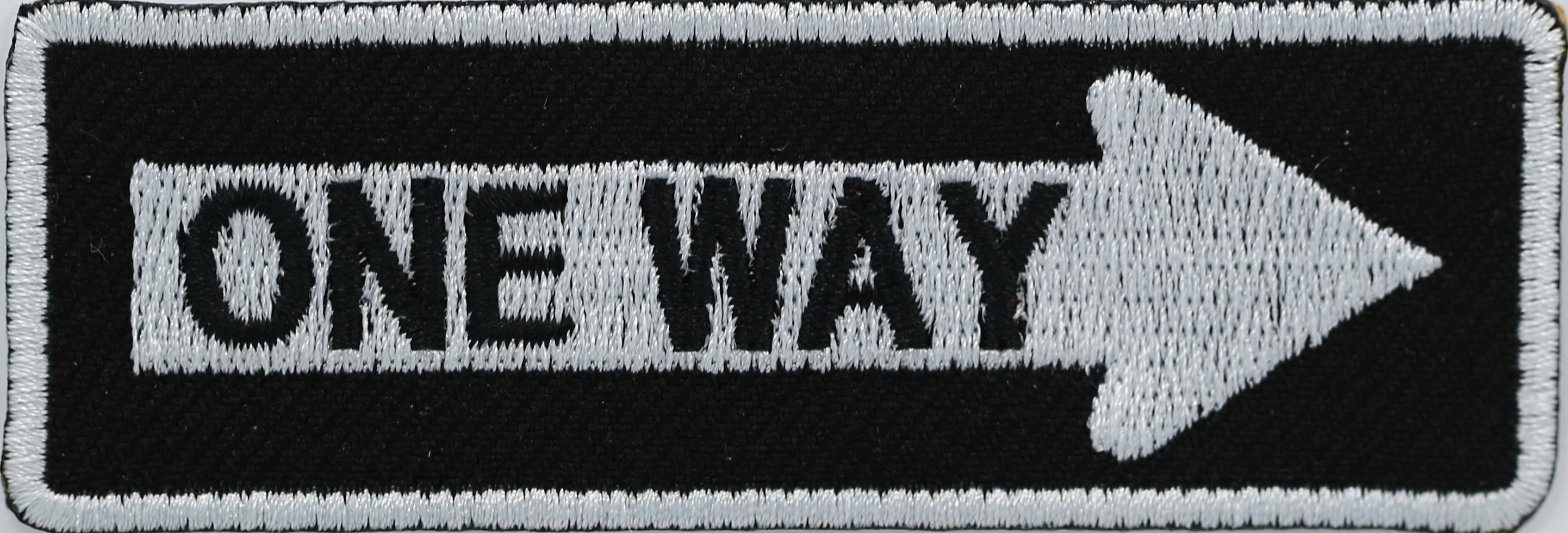 Right One Way Biker Patch