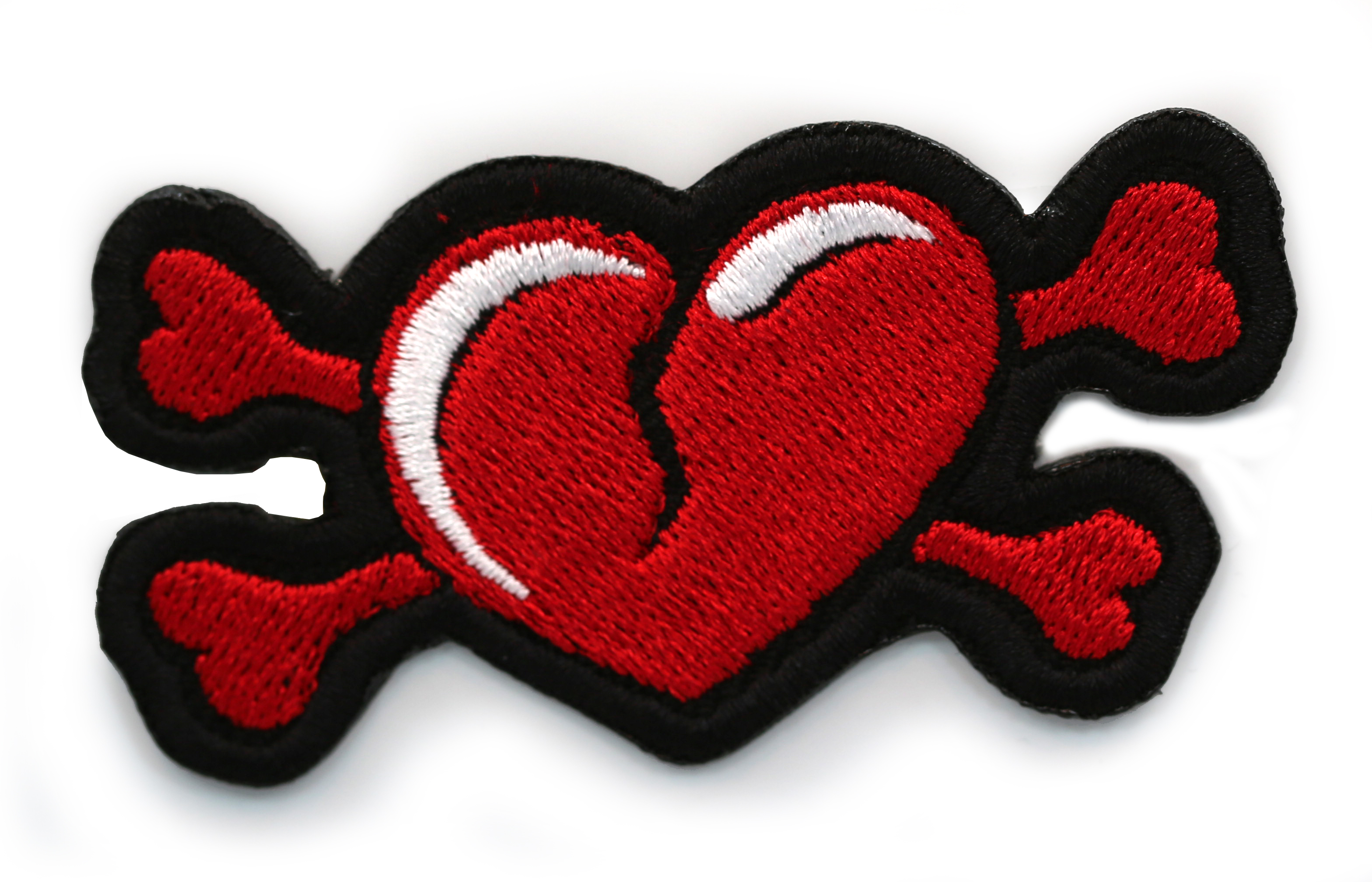 Cross Bones Broken Heart Patch