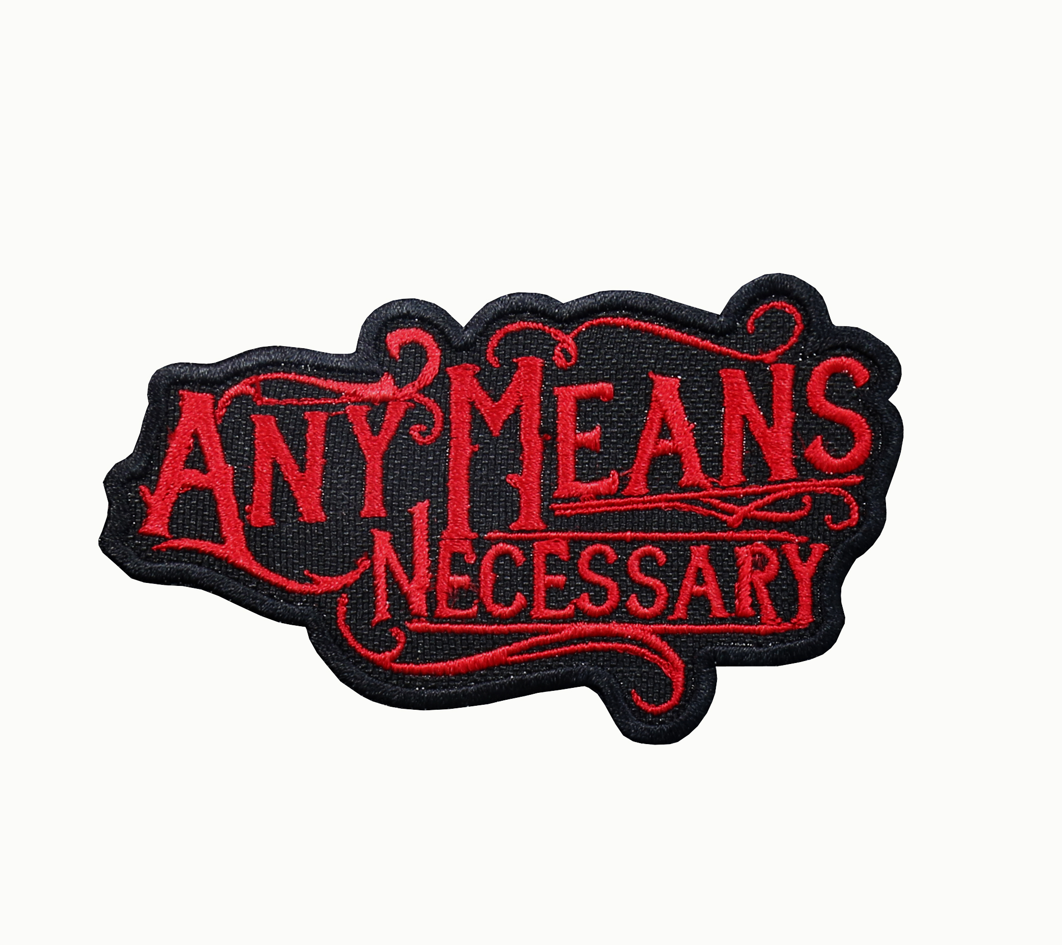 Any Means Necessary Biker Patch
