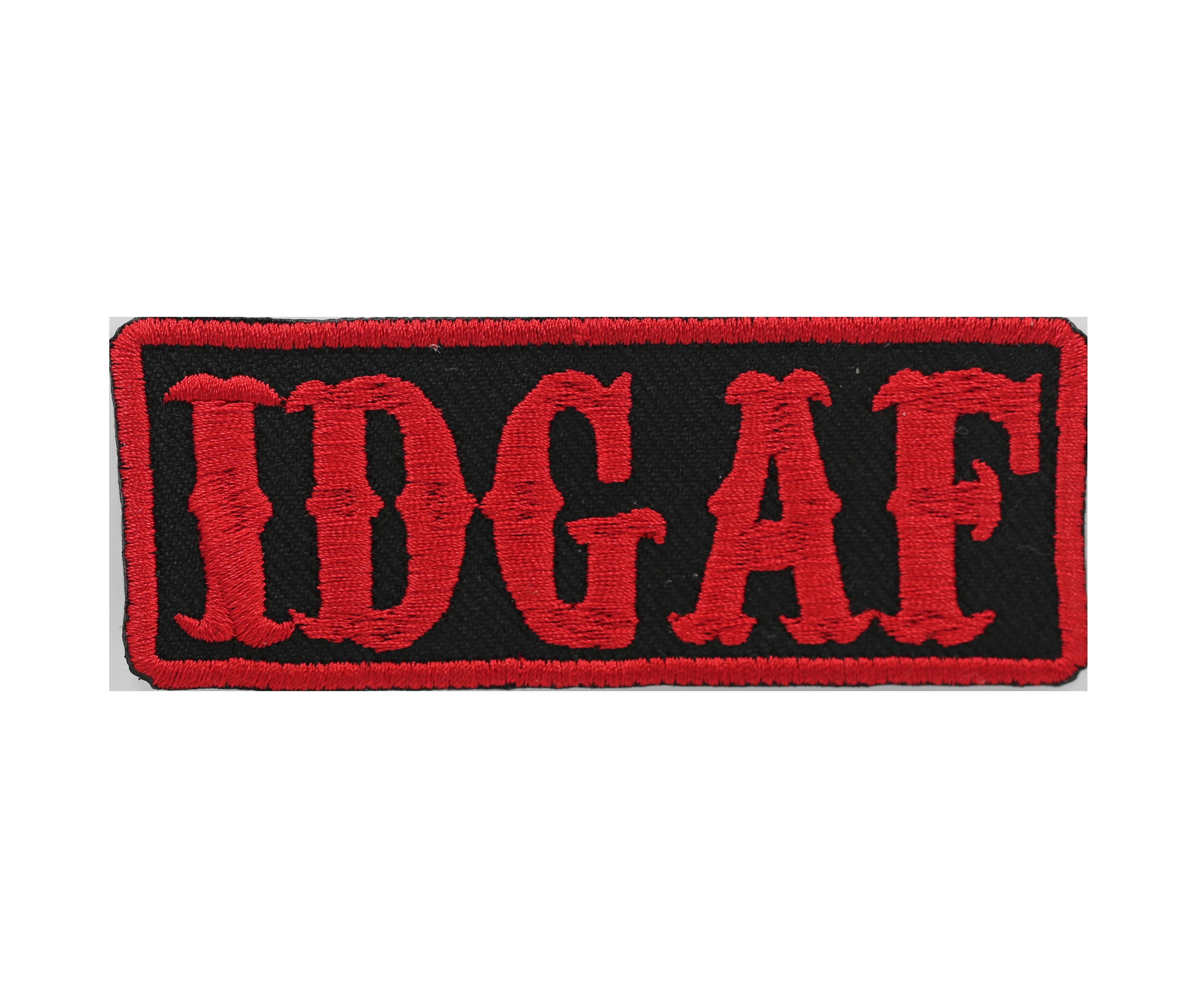 IDGAF Biker Embroider Patch